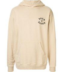 bornxraised logo printed hoodie - neutrals