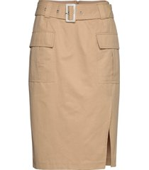 mia skirt knälång kjol beige notes du nord