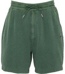 drawstring waist jersey shorts