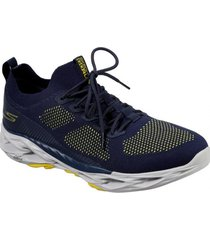 zapatilla go run vortex - rush azul marino skechers