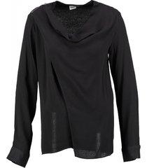 object zwarte overslag blouse viscose