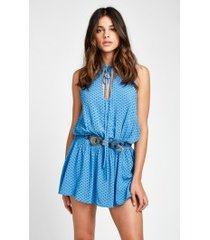 diamond foulard fly by romper dress