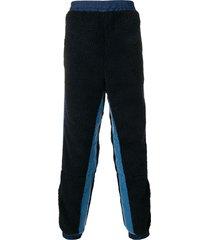 ambush fleece-detail track pants - blue