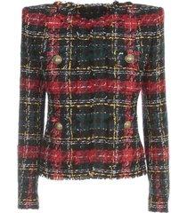 tartan tweed jacket