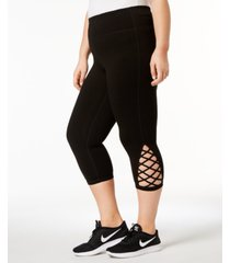 ideology plus size cutout cropped leggings, created for macy's
