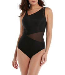 women's miraclesuit illusionists azura one-piece swimsuit, size 16 - black