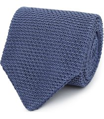 reiss jackson - silk knitted tie in airforce blue, mens