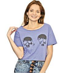 camiseta cropped nalu rio caveiracamiseta cropped nalu rio caveira feminino
