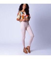 calça legging recortes feminina