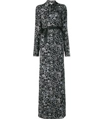 a.f.vandevorst ring print maxi shirt dress - black