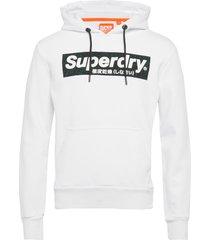 camo international hood hoodie trui wit superdry