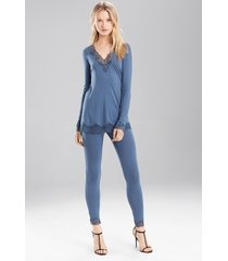 undercover top pajamas, women's, blue, size xl, josie natori