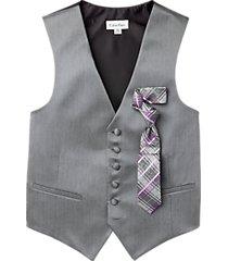 calvin klein gray herringbone modern fit vest set