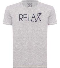 camiseta aleatory bordada relax masculina