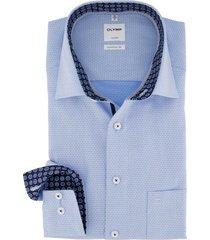 mouwlengte 7 overhemd olymp comfort fit blauw