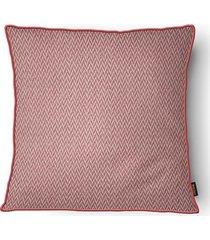 almofada decorativa serenity com cordone 103 50x50cm vermelha