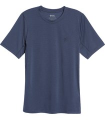 men's fjallraven abisko day hike men's short sleeve t-shirt, size x-large - blue