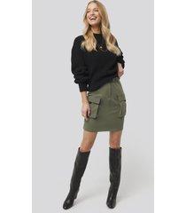 trendyol side pocket detail skirt - green