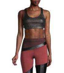 koral women's coated sports bra - black - size xs
