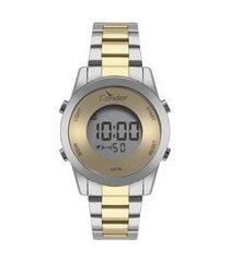 relógio feminino condor digital - cobj3279ac5d prateado