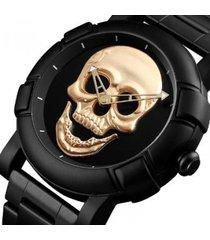 reloj hombre skmei 9178 skull negro