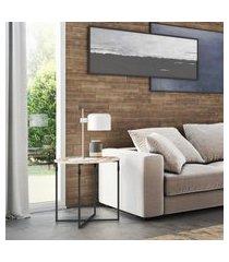 mesa de canto lateral industrial novabras joice 60cm