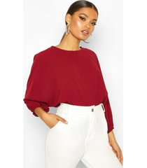 batwing sleeve blouse, berry