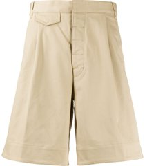 dsquared2 wide-leg chino shorts - neutrals