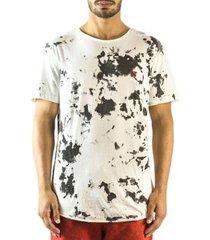 camiseta longline curve brohood mancha masculina