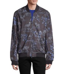 greyson men's floral bomber jacket - abyss - size xl