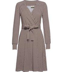 tina dresses wrap dresses brun jumperfabriken