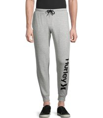 hurley men's one and only logo lounge pants - black - size l