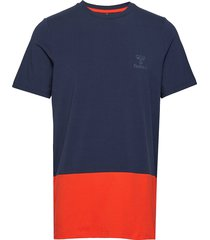 hmlrolf t-shirt s/s t-shirts short-sleeved blå hummel