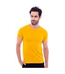 camiseta básica masculina amarelo