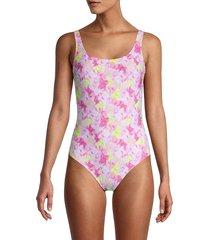 moschino women's jelly bears-print one-piece swimsuit - size 2 (m)