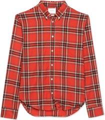 billy reid men's kirby slim-fit plaid shirt