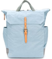 ally capellino buckle fastening backpack - blue