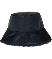 nine west reversible faux fur bucket hat
