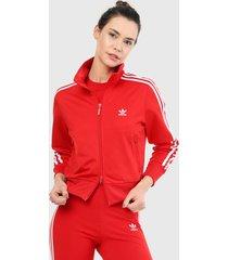 chaqueta rojo-blanco adidas originals