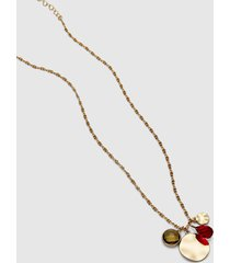 lane bryant women's 4-charm pendant chain necklace no festival fuchsia