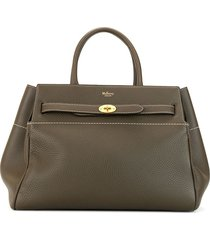 mulberry bayswater belted tote - brown