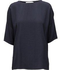 mains tee 5687 blouses short-sleeved blå samsøe samsøe