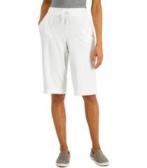 karen scott knit skimmer shorts, in regular & petite, created for macy's