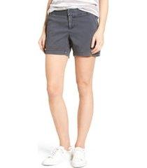 women's caslon cotton twill shorts, size 14 - grey