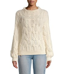 minava cable knit sweater