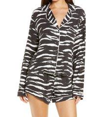 women's rails eve short pajamas, size medium - black