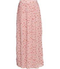 viyrsa hw dot maxi skirt/dc lång kjol rosa vila