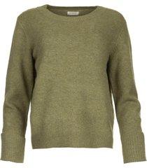 trui met omgeslagen mouwen brianna  groen