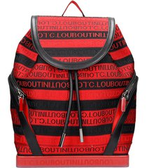 christian louboutin explorafunk backpack in black fabric