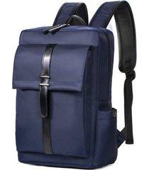 mochila para hombre, mochila de negocios mochila con bolsa de nylon-azul